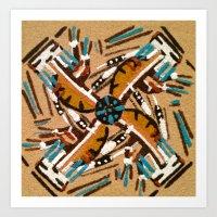 Indian Windmill Design Art Print