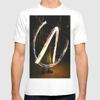 Fire Poi. Mens Fitted Tee White SMALL