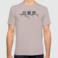 Treehouses Mens Fitted Tee Cinder SMALL