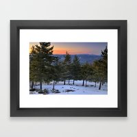Winter Sunset. Forests Framed Art Print