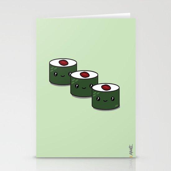 Tuna Roll Sushi Stationery Card