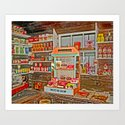 The Old Corner Shop. Art Print