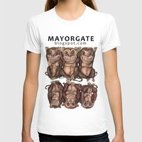 Emancipated Monkeys  Womens Fitted Tee White SMALL