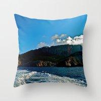 Lighthouse: Amalfi Coast… Throw Pillow