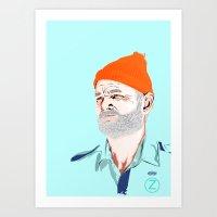 Doc Zissou Art Print