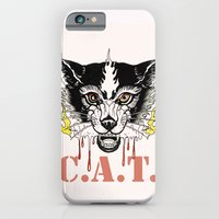 Space Cat King Fire iPhone 6 Slim Case