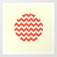 Chevron Full Circle Art Print