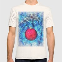Xmas Decoration  Mens Fitted Tee Natural SMALL