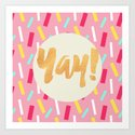 Yay Confetti Art Print