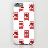 iPhone & iPod Case featuring Red Double Decker Bus Pattern - London by Corrie Jacobs