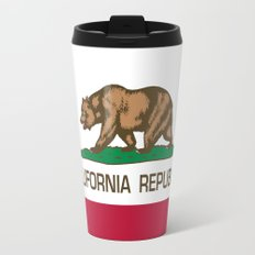 California Republic state flag - Authentic High Quality Version Travel Mug