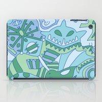 Abstract Animals - Blue … iPad Case
