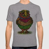 Owly Mens Fitted Tee Athletic Grey SMALL