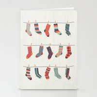 Don't Waste Time Matching Socks Stationery Cards