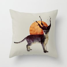 suncat Throw Pillow