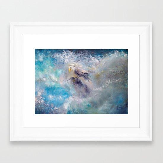 bulutlar ve mavi gökyüzü Framed Art Print