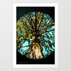 Giant in the sky Art Print