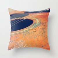 Teardrops on my Guitar Throw Pillow
