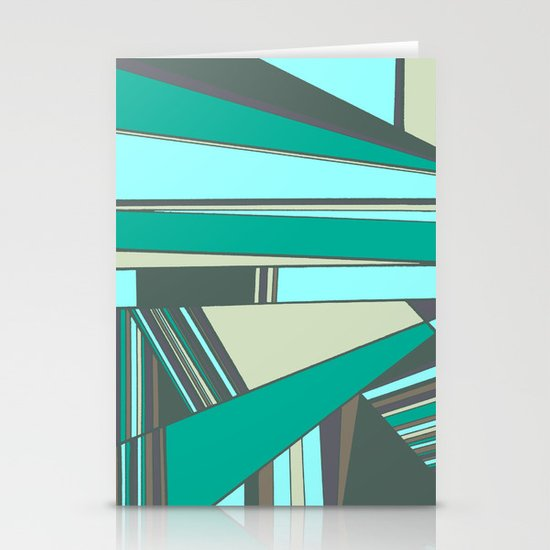 Triangles and Stripes Stationery Card