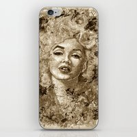 Blonde Bombshell - Sepia… iPhone & iPod Skin