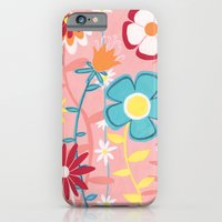 iPhone & iPod Case featuring Flowers on Pink by Emma Randall