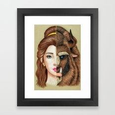 Beauty & the Beast Framed Art Print