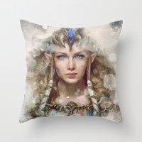 Epic Princess Zelda From… Throw Pillow