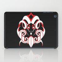 Warrior (White & Red) iPad Case