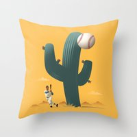 Cactus League Throw Pillow