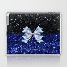 Brilliant Black and Blue  Laptop & iPad Skin