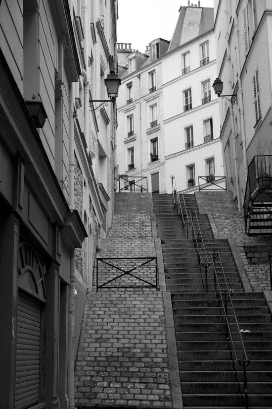 Climbing Paris Art Print