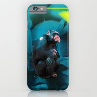 iPhone & iPod Case featuring Space Chimp by akamundo