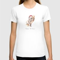 Happy Holidays Womens Fitted Tee White SMALL