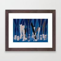 Z!NK Magazine: What is it about women in heels? Framed Art Print
