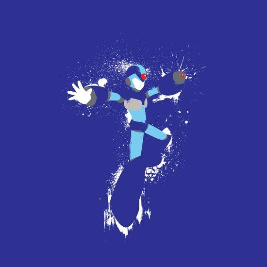 Mega Man X Splattery Design Art Print