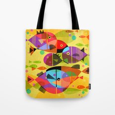 AQUATIC RAINBOW Tote Bag