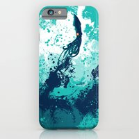 iPhone Cases featuring Squid Splash by Steven Toang