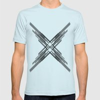Sci-Fi Shards Mens Fitted Tee Light Blue SMALL