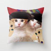 cateou twins Throw Pillow