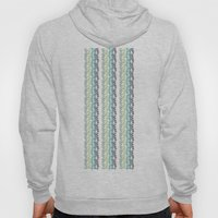 Blue and mint floral Hoody