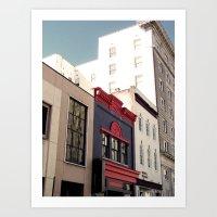 Main Street Downtown Dur… Art Print