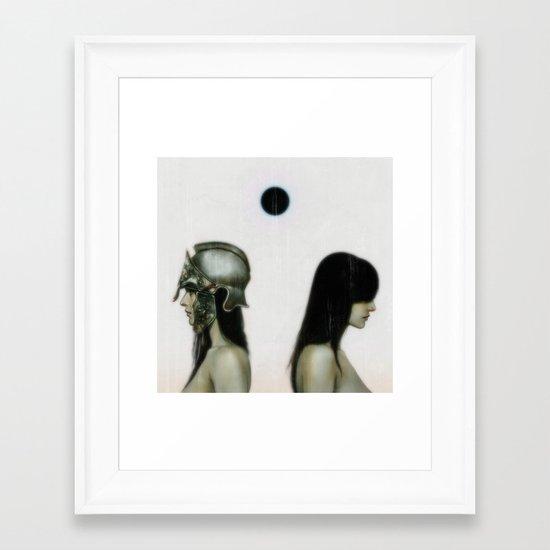 """""""From The Black Sun"""" Framed Art Print"""