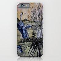 Blue Breaching Whale  iPhone 6 Slim Case