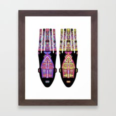 Psychedelic Tribe Framed Art Print