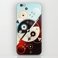 Ying-Yang Blue Version iPhone & iPod Skin