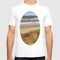 A Day At Hatteras Mens Fitted Tee White SMALL