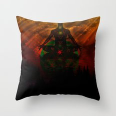 One with the universe Throw Pillow