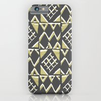 Grey and Beige Pattern Print iPhone 6 Slim Case