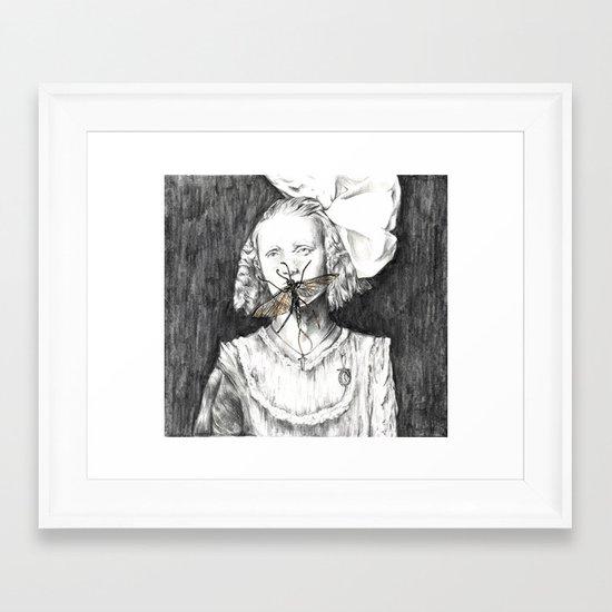 Mayfly moments. Framed Art Print