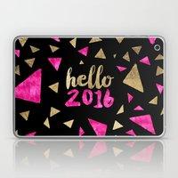 Modern Pink Gold Triangl… Laptop & iPad Skin